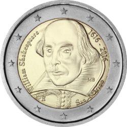 2 евро, Сан-Марино (400 лет со дня смерти Уильяма Шекспира)