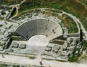 Античный амфитеатр (одеон) в городе Пафос