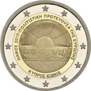 2 евро, Кипр (Пафос - Культурная столица Европы 2017)