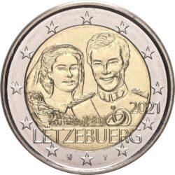 2 евро, Люксембург (40-летие бракосочетания Великого Герцога Анри и Великой Герцогини Марии-Терезы)