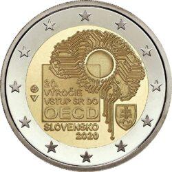 2 евро, Словакия (20-летие вступления Словакии в ОЭСР)