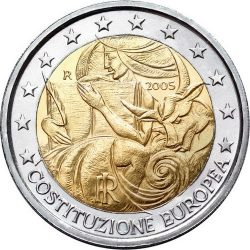 2 евро, Италия (1-я годовщина подписания Европейской конституции)