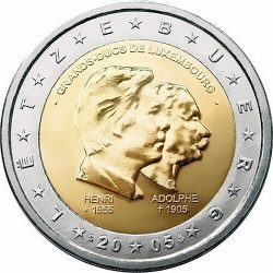 2 евро, Люксембург (Три годовщины)