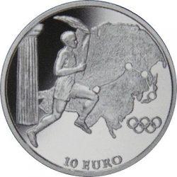 10 евро, Греция (Движение Олимпийского огня, Азия)