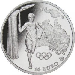 10 евро, Греция (Движение Олимпийского огня, Австралия)