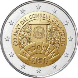 2 евро, Андорра (600-летие Совета Земли)