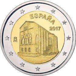2 евро, Испания (Церковь Санта-Мария-дель-Наранко в Овьедо)