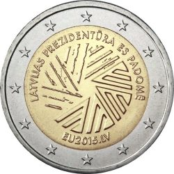 2 евро, Латвия (Председательство Латвии в Совете Европейского союза)