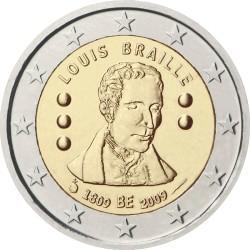 2 евро, Бельгия (200 лет со дня рождения Луи Брайля)