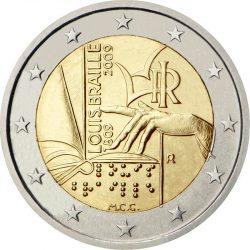 2 евро, Италия (200 лет со дня рождения Луи Брайля)
