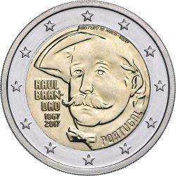 2 евро, Португалия (150 лет со дня рождения Раула Брандана)