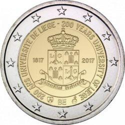 2 евро, Бельгия (200 лет с основания Льежского университета)