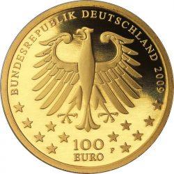 100 евро, Германия (Римские памятники архитектуры, собор и церковь Мадонны в Трире)