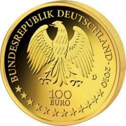 100 евро, Германия (Вюрцбургская резиденция и дворцовый сад Хофгартен)
