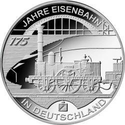 10 евро, Германия (175 лет железной дороге в Германии)
