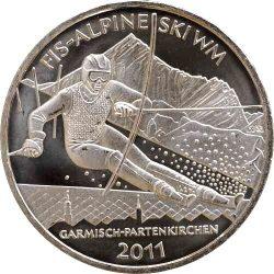 10 евро, Германия (Альпийский Чемпионат мира по горнолыжному спорту в Гармиш-Партенкирхене)