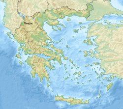 Пиндос на карте Греции