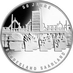 10 евро, Германия (50 лет федеральной земле Саар)
