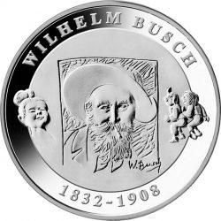10 евро, Германия (175 лет со дня рождения Вильгельма Буша)