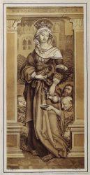 Елизавета часто изображалась раздающая милостыни