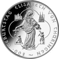 10 евро, Германия (800 лет со дня рождения Елизаветы Тюрингской)