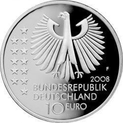 10 евро, Германия (150 лет со дня рождения Макса Планка)