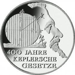 10 евро, Германия (400 лет законам Кеплера)
