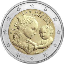 2 евро, Сан-Марино (550 лет со дня смерти Филиппо Липпи)
