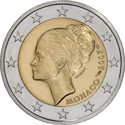 2 евро, Монако (25 лет со дня смерти Грейс Келли)