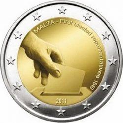 2 евро, Мальта (Первые избранные представители совета Мальты 1849 года)