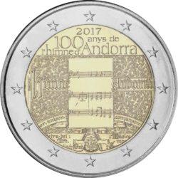 2 евро, Андорра (100-летие гимну Андорры)