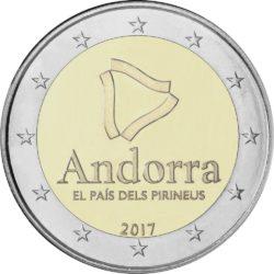 2 евро, Андорра (Андорра - страна в Пиренеях)