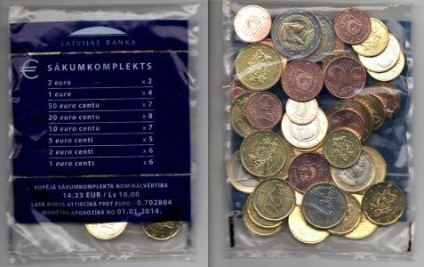 Стартовый набор евро, Латвия